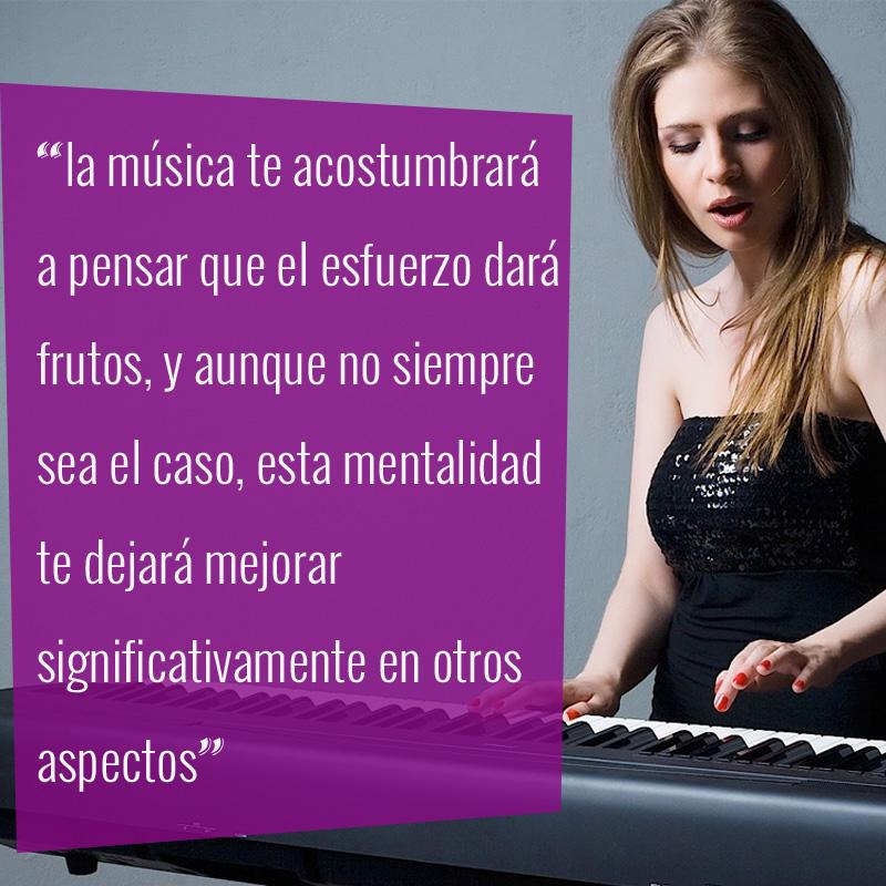 La música fomenta la disciplina